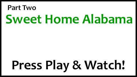 The Guitar Chords To Sweet Home Alabama (Part 2)